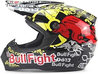 Anself Motorcycle Adult Motocross Off Road Helmet Racing Helmets M