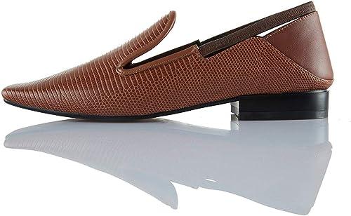 TXHLKD Vente Haute Haute Qualité Bout Carré Neutre Pompes Femme Chaussures Talons Chunky Glissent sur Décontracté Lady Chaussures Femme Pompes Femme  haute qualité authentique