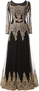 Laceshe Maxi Pageant Cocktail Homecoming Prom Dresses Junior Bridesmaid Gowns with Long Sleeves