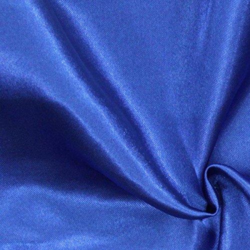 Polyestersatin 4 königsblau — Meterware ab 0,5m — zum Nähen von Kissen/Tagesdecken, Tischdekoration & Bettwäsche