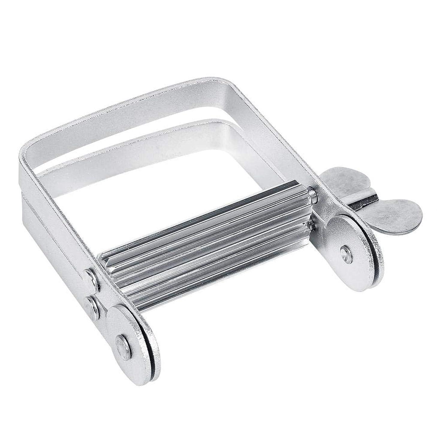 バーゲン私フランクワースリーチューブ絞り器 チューブリンガー 軟膏押出器 アルミ製 歯磨き粉 絵の具 接着剤 洗面道具 便利 人気 シルバー