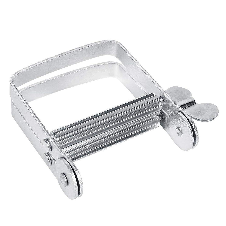 砲撃シャツコンチネンタルチューブ絞り器 チューブリンガー 軟膏押出器 アルミ製 歯磨き粉 絵の具 接着剤 洗面道具 便利 人気 シルバー