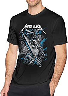 Mens Fashion Metallica T-Shirts Black