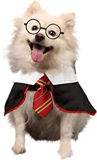 Coomour Dog Halloween Wizard Cosutme Pet Cat Puppy Cute Outfits Clothes for Small Medium Large Dogs Cats Shirt with Glasse...