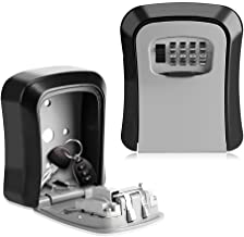Key Lock Box 4 Digit Combination Wall Mount Key Safe Security Storage Box for Sharing Keys Securely Indoor and Outdoor