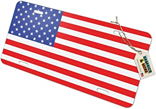 Graphics and More USA Flag United States American - Patriotic Novelty Metal Vanity License Tag Plate