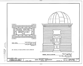 Historic Pictoric Structural Drawing HABS Mass,10-NANT,100- (Sheet 7 of 8) - Maria Mitchell Observatory, 3 Vestal Street, Nantucket, Nantucket County, MA 55in x 44in