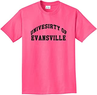NCAA Evansville Purple Aces Arch Neon T-Shirt, Neon Pink, 3X-Large