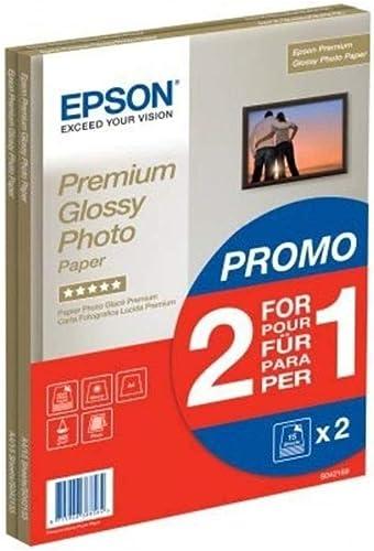 Epson C13S042169 - Pack de 2 - Papier Photo Premium Glacé - A4 - 2x15 Feuilles