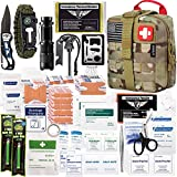 EVERLIT 250 Pieces Survival First Aid Kit IFAK Molle System Compatible Outdoor...