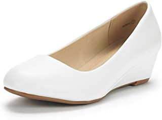 Best white wedge pump shoes Reviews
