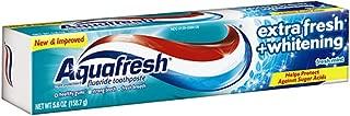 Aquafresh Extra Fresh Whitening Fresh Mint Toothpaste, 5.6 Ounce, Pack of 4