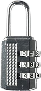 Korbond Zinc Combination Padlock/Luggage Lock, 14 cm, Silver
