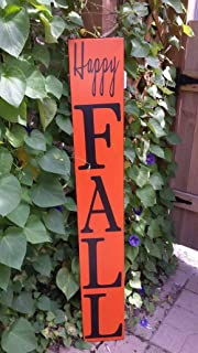 Happy Fall 5ft Reversible Wood Sign Entryway Sign Distressed Wood Rustic Primitive Autumn Decoration Extra Large Oversized Porch Sign Gift