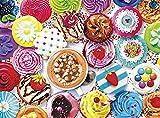 LREFON Puzzle 1000 Piezas Postre Pastel Gourmet,Jigsaw Puzzles desafiantes Rompecabezas para Adultos/Infantiles