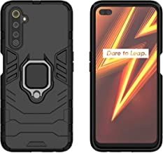 YEESOON Realme 6 Pro Case, Dual Layer Hybrid Shockproof Protective Case with Ring Stand & Magnetic Car Mount Function Back Cover for Realme 6 Pro - Black