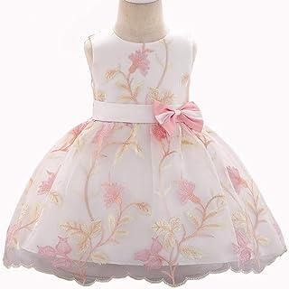 YARUDRESS Vestido Niña, Girls Bowknot Princess Skirt sin Mangas,Girls Pageant Vestido Fiesta de Boda Comunión Baile de Fie...