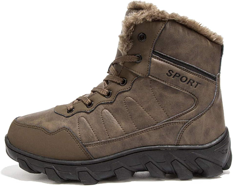 Adong Mens Waterproof High Rise Jungle Trekking shoes Plus Velvet Lace-up Non Slip Breathable Outdoor shoes,B,39EU