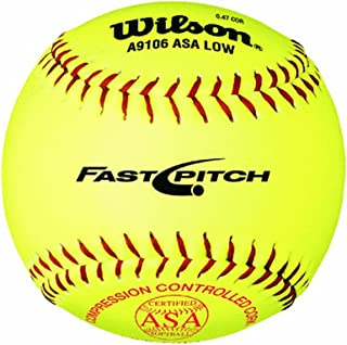 Wilson A9106 ASA Series Softball (12-Pack), 12-Inch, Optic Yellow