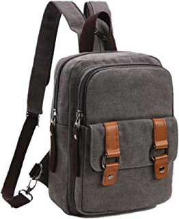 Arbag Small Cute Backpack Vintage Casual Canvas Shoulder Bag Daypack 8528bag,Grey