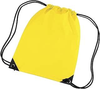 Bagbase Premium Gymsac Water Resistant Bag (11 Litres) (Pack of 2)