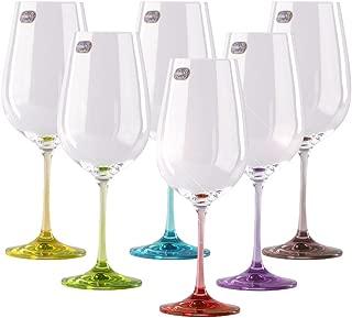 colored stem wine glasses