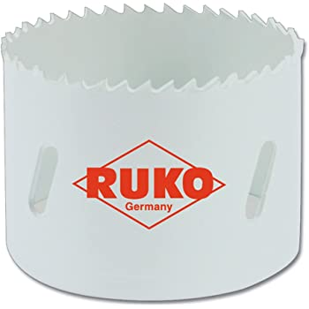 73 mm Ruko 126073 Corona Perforadora HSS Co 8 bimetal dentado Fino