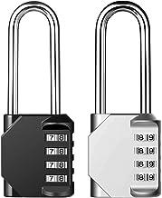 Lanboo Combinations cijferslot, 4-cijferig anti-roest, weerbestendig hangslot, ideaal veiligheidsslot voor school, gym, lo...