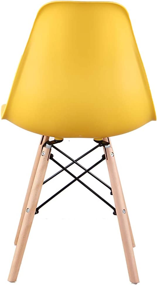 Luckeu Lot de 4 chaises latérales modernes avec pieds en bois pour salle à manger, salon, chambre, cuisine, salon Lot de 4 Jaunes.