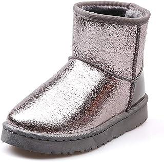 ef16e443b JOYBI Women Waterproof Ankle Snow Boots Cute Winter Round Toe Warm Faux Fur  Short Boots Outside