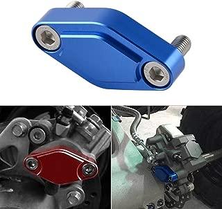 NICECNC Blue CNC ATV Parking Brake Block Off Plate for Raptor 125,250,350,660,700,YFZ450/450R/X,Warrior 350,Banshee 350,TRX 450R/400EX/300EX,LTZ 400/LTR 450,KFX 400/450