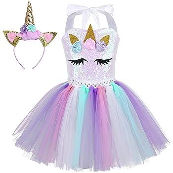 CHICTRY Disfraz Princesa Unicornio para Niña Disfraz de Navidad ...
