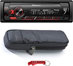 $119 » Pioneer MVH-S320BT 1-Din in-Dash Car Stereo with Detachable Faceplate and SoundKase Carry Case Bundle. Digital Media Recei...
