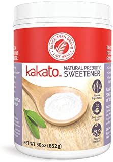 Kakato High Fiber Sweetener - Non-GMO, Natural, Low Calorie Sugar Substitute - Artificial Free, Gluten Free, Prebiotic, Su...
