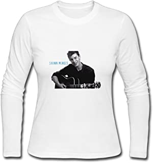 Shawn Mendes Concert Live 2017 Long Sleeve T-Shirts For Womens White