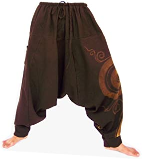 Siamrose, Harem Pants Women Men, Drop Crotch Pants, Aladdin Pants, Yoga Pants, Boho Pants, One Size