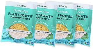 Outer Aisle Gourmet Cauliflower Sandwich Thins | Keto, Gluten Free, Low Carb Cauliflower Bread | Original Sandwicher 4 pac...