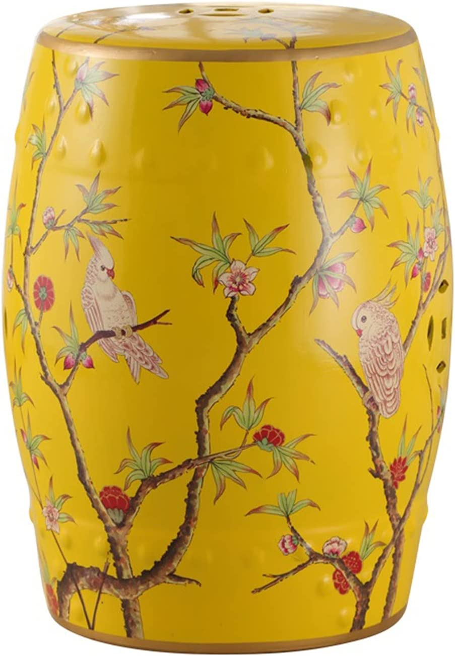 IINSSDJ Decorative Garden Ranking TOP3 Stools Yellow Portable Brand new Side T Ceramic