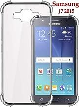 Jkobi Silicon Flexible Protective Shockproof Corner Back Case Cover for Samsung Galaxy J7 2015 -Transparent