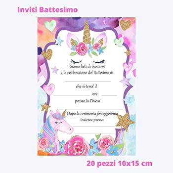 100 Beb/è Bimbo//Bimba neutri in Set da 25 50 Pezzi kamiustore Bigliettini con inviti Battesimo MOD 25 Bigliettini+inviti, Rosa