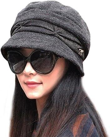 8de8140521c Knitted Cloche Hat Pleated Flapper Womens Ladies Winter Hat Short Brim Cap- Multicolor