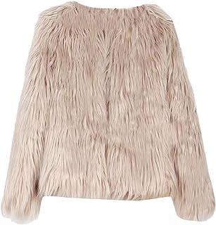 maweisong レディースエレガントフェイク毛皮コート冬暖かいジャケットオーバーコート