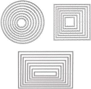 SELUXU 4pcs Encaje Borde c/írculo Marco de Metal de Corte Mueren Plantillas para DIY /álbum de Scrapbooking Grabado en Relieve a Mano en Tarjetas de Papel