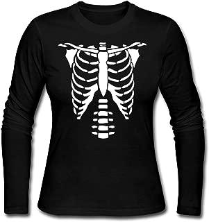 Skeleton Ribcage Costume Mardi Gras Women's Long Sleeve Jersey T-Shirt