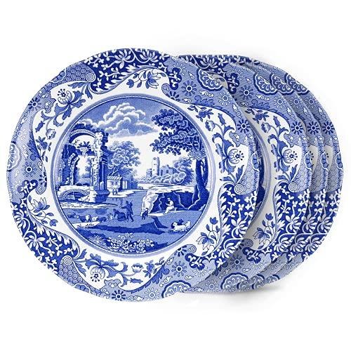 Spode Blue Italian Salad Plates - Set of 4
