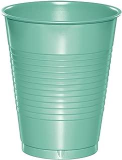 Creative Converting 318883 Plastic Cups, 16 oz, Fresh Mint (20 Count)