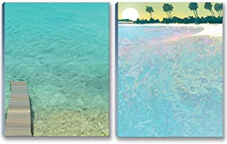 Tropical Water Note Pad Pack - 2 Tropical Theme Pads -5.5 x 4.25 Inches - 50 Sheets Per Pad