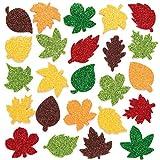 Baker Ross Autocollants feuilles à paillettes(Paquet de 144)