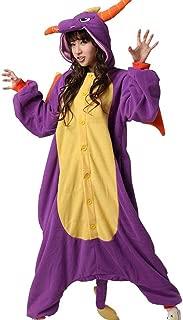 Animal Cosplay Costume Dragon Unisex Adult Pajamas