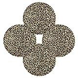 F17 - Juego de 4 manteles individuales redondos con estampado de leopardo, poliéster, antideslizantes, resistentes al calor, para cocina, hogar, café, comedor, decoración de mesa